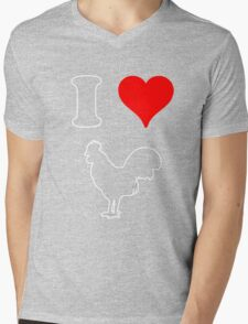 I Heart Cock tee Mens V-Neck T-Shirt
