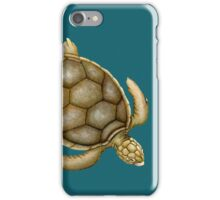 Flatback Sea Turtle iPhone Case/Skin