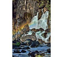 Tarawera Falls Fantail Rainbow Photographic Print