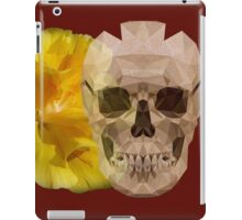 Yellow hibiscus and skull, nice couple iPad Case/Skin