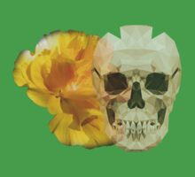 Yellow hibiscus and skull, nice couple One Piece - Short Sleeve