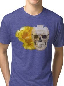 Yellow hibiscus and skull, nice couple Tri-blend T-Shirt