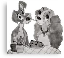 Lady and the tramp Canvas Print