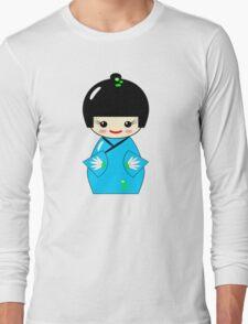 Japanese Kokeshi doll Long Sleeve T-Shirt