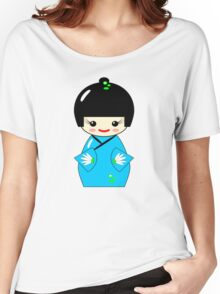 Japanese Kokeshi doll Women's Relaxed Fit T-Shirt