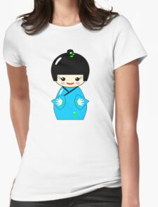 Japanese Kokeshi doll Womens Fitted T-Shirt