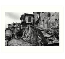 The Back Streets Of Artena Art Print