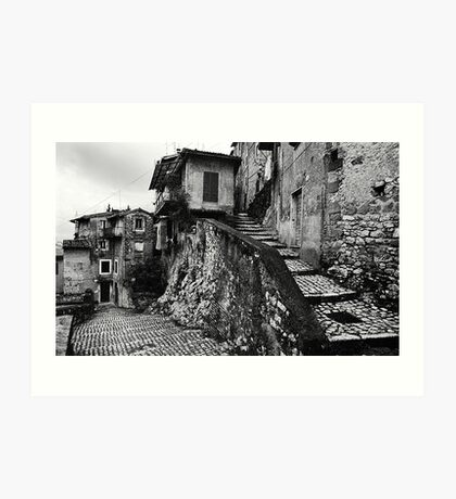 The Back Streets Of Artena Art Print