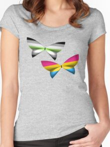 Agender Pansexual Pride Butterflies Women's Fitted Scoop T-Shirt