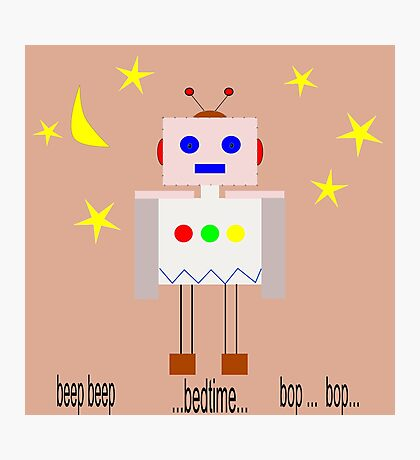 Bedtime robot beep beep Photographic Print