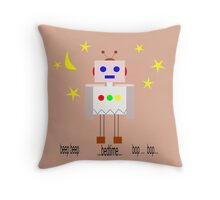 Bedtime robot beep beep Throw Pillow