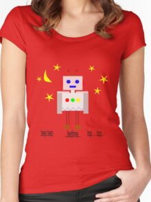 Bedtime robot beep beep Women's Fitted Scoop T-Shirt