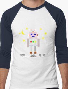 Bedtime robot beep beep Men's Baseball ¾ T-Shirt