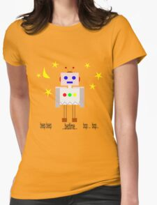 Bedtime robot beep beep Womens Fitted T-Shirt