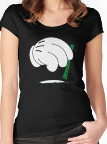 cocaine cartoon hands Women's Fitted Scoop T-Shirt
