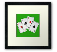 Poker of Aces Framed Print