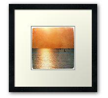 Voilier au Crépuscule Framed Print