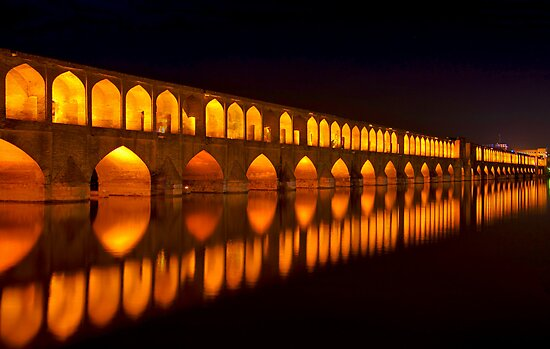 Si-o-Seh Pol (Bridge) - Isfahan - Iran by Bryan Freeman