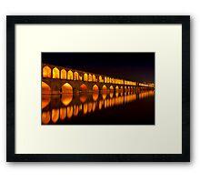 Si-o-Seh Pol (Bridge) - Isfahan - Iran Framed Print