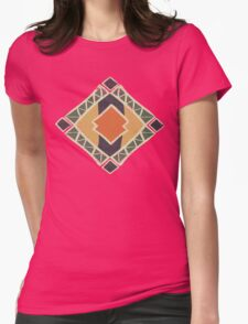 Cool Abstract Enchanting Colors and Shapes Womens Fitted T-Shirt