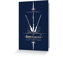 The Three Broomsticks in White Greeting Card