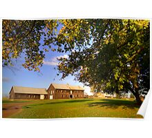 Shearing Shed - Woolmers Poster