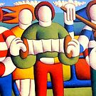 Trad session with troupies by Alan Kenny