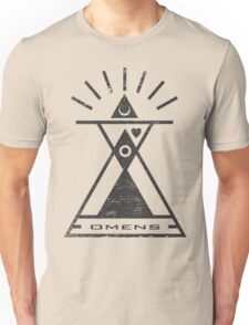 Omens - Typography and Geometry Unisex T-Shirt