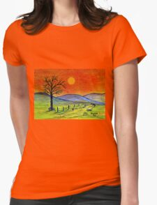 A tree somewhere in Africa Womens Fitted T-Shirt