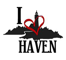 I Love Haven Black Logo Photographic Print