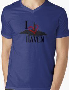 I Love Haven Black Logo Mens V-Neck T-Shirt