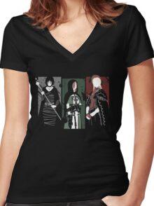 Souls Waifus Women's Fitted V-Neck T-Shirt