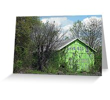 Eco-Barn Greeting Card