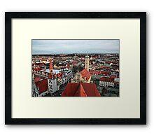 Munich Rooftops Framed Print