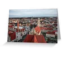 Munich Rooftops Greeting Card