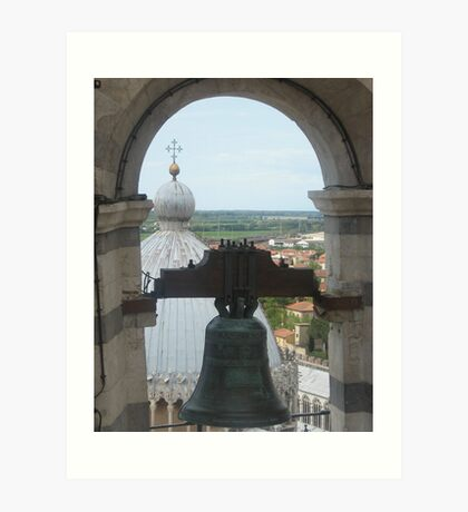 A Bell over Tuscany Art Print