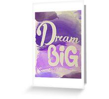 Dream Big Inspirational Purple Watercolor  Greeting Card