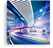 Light Painted City Canvas Print