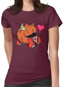 Derpy Drooly Chest Baby Womens Fitted T-Shirt