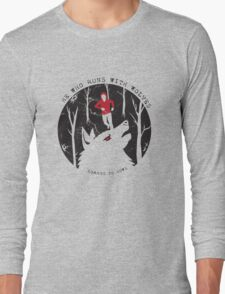 He Who Runs With Wolves T-Shirt