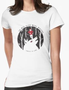 He Who Runs With Wolves Womens Fitted T-Shirt