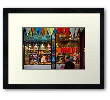 Restaurant in Chinatown Framed Print