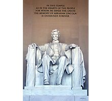 Lincoln Memorial 02 Photographic Print