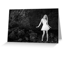 Alice at the Cliff Face Greeting Card