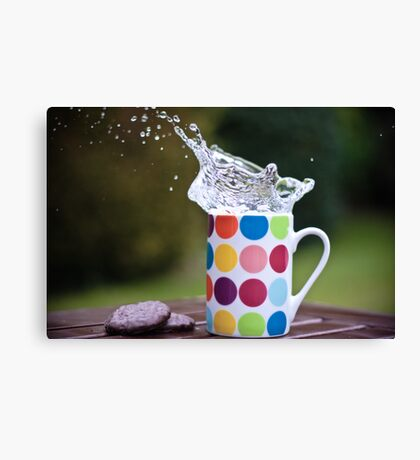 Spotty splash Canvas Print