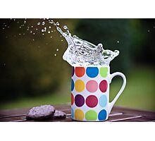 Spotty splash Photographic Print