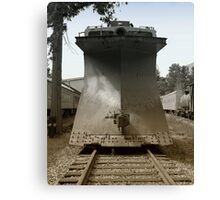 Snowplow Train Canvas Print