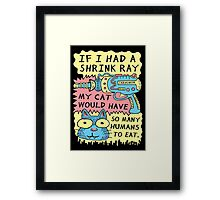 Shrink Ray Cat Framed Print