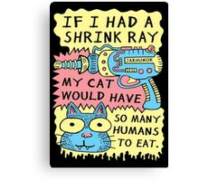 Shrink Ray Cat Canvas Print