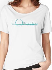 Ollivanders Logo in Blue Women's Relaxed Fit T-Shirt